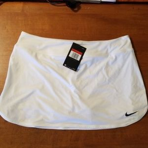 Nike Womens White Tennis Skirt with Shorts